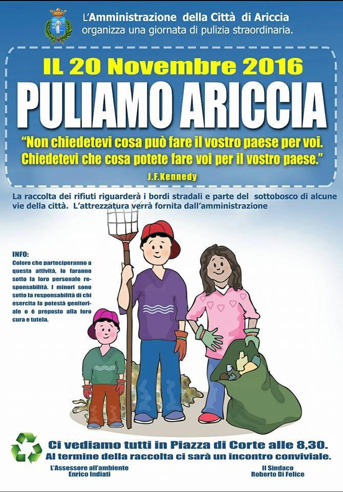#puliamoariccia