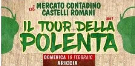 """#POLENTA domenica #19febbraio ad #Ariccia """"Tour della Polenta"""""""