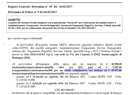 SICRAweb altri 35mila_euro impegnati 2017