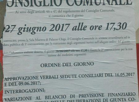 Consiglio Comunale #27giugno dopo 6 mesi si torna a consentire #INTERROGAZIONI…