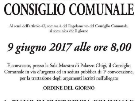 """#Ariccia #Streaming Consiglio Comunale #9giugno """"EMERGENZA COMUNALE"""" 2017"""