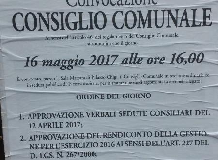 Streaming del Consiglio Comunale #16maggio 2017