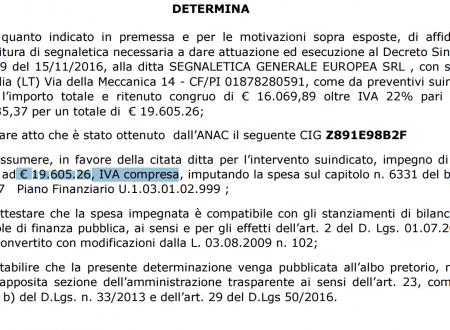 """#Ariccia """"segnaletica 24_MILA_euro"""" #AspettiamoiFatti #giottarelloinPratica"""