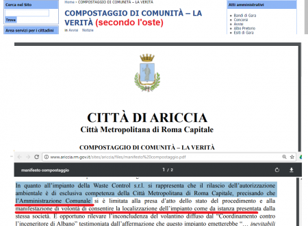 #Ariccia WASTE CONTROL SRL #28settembre 2017 autorizzato l' IMPIANTO DI GESTIONE E TRATTAMENTO DI RIFIUTI SPECIALI #aspettiamoifatti #giottarelloinpratica
