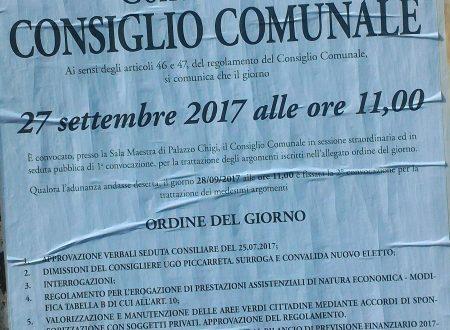 #Ariccia #27settembre 2017 #ConsiglioComunale #streaming e differita youtube