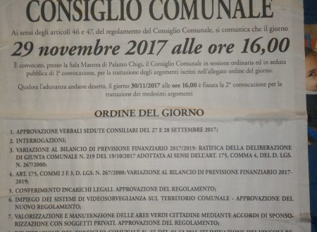 #Ariccia #29novembre 2017 #ConsiglioComunale #streaming e differita youtube