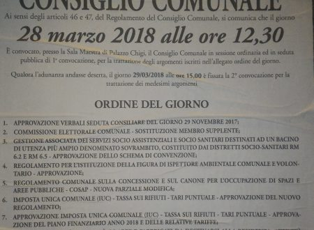 #Ariccia #28marzo 2018 #ConsiglioComunale #streaming e differita youtube